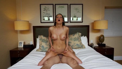 Perfect brunette gets fucked in multiple positions