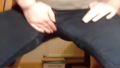 Peeing and masturbating in my tight pants 3