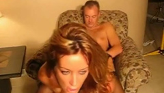 Horny wife in lingerie fucked and cummed online