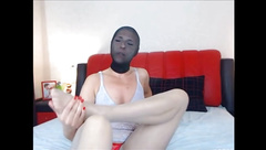 blond with nylon face lick her nylon feet.mp4