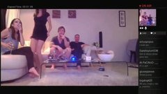Aussie PS4 Playroom girls flashing tits