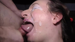 her first extreme deepthroat orgy