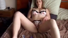 Sexy blonde babe stripteasing and toying her horny pussy on webcam 3