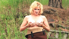 Busty Country Mature Blow Outdoor