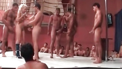 Gangbang Archive Real amateur fuck orgy on stage