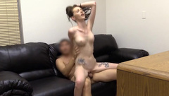 Teen's First Time Anal On Casting Couch