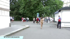 Sweet shy teen nikola naked on public streets