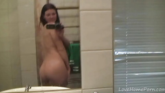 Bathroom teen loves to play with herself