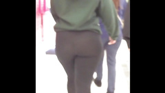 AMAZING THICK BOOTY!!! See thru leggings