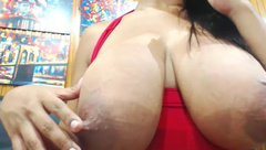 BOOBSPLAY  bianka milk tits strap milk lactating part.5