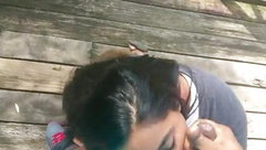 Indian Teen BJ and Facial Outside