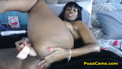 Beautiful Big Black Woman With Hairy Pussy Is Needy