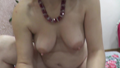 wet pussy rubbing cock till orgasm. sperm close up natural tits closeup POV