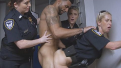 Tattooed guy loves banging blonde cop