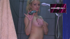 Penny Lee in the shower