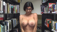 Mia Khalifa at the library please be silent....