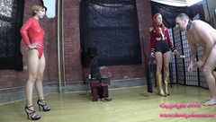 Alexa Rydell and Amadahy - Ring Master Whips Slave in Rehearsal