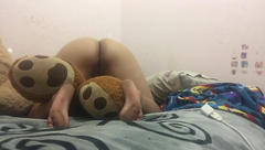 bbw and her teddy bear