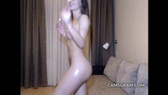 Dirty Shaved Camslut Teasing Us In This One