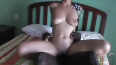 Cuckold MILF riding black bull while on vacation I videotape