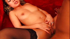 Pierced clit and nipples asian girl fingered