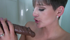 HannahBrooks Three Big Fat Cocks In The Shower  in private premium video