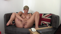 HannahBrooks Finger Fucking Watching Lesbian Porn  in private premium video