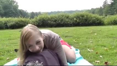 Fucked in a Park and Creampied
