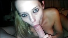 hot girlfriend give a dirty blowjob