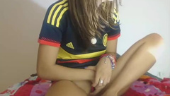 Horny Latin Petite fan Player Playing with Pussy & Ass