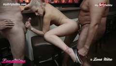 Mydirtyhobby - Intense threesome by the bar