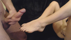 RobXXXrider Footjob W Cum On Feet in private premium video