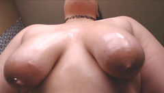 Kiki PlumpAss Oil And Spit Covered Tits in private premium video