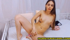 Cute 18yo Brunette Loves Playing With Pussy