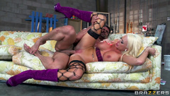 Stockings blonde Summer Brielle fucked & facialized