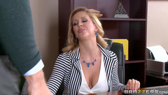 Johnny Sins pussy licking blonde boss Cherie Deville