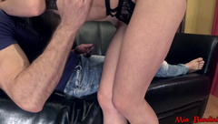 mia bandini -  rough ass to throat fuck and facial cum