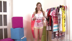 TeenModels - Trying on clothes is fun Domi
