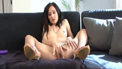 Brunette Milf Drills Her Butthole With Dildo.mp4