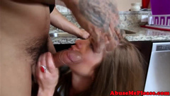 Teen babe choked and pussyfucked roughly