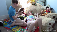 Brother - Sister Play Naughty In Their Diapers -full Le