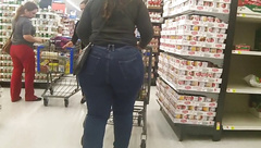 PAWG stuffed in VERY tight jeans!