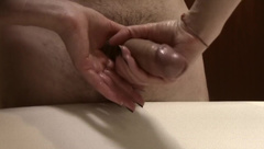 Oily Handjob With a Nice Cumshot