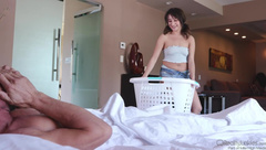 RealityJunkies -   Isabella Nice Doing Daddys Laundry