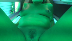 Rennaryann My Real Life Tanning Bed Orgasm in private premium video