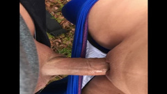 Cumming in my panties while playing outside
