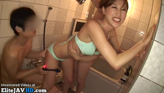 Japanese babe gets shared between her friends