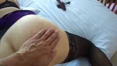 Flogger, spanking and sex with T
