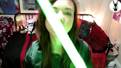 Bunnie Hughes - Nerdy Girl Fucks Huge Lightsaber