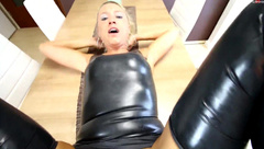 Daynia - 3-hole Hardcore fuck for Latexhure!